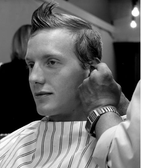 man's hair sample for drug testing